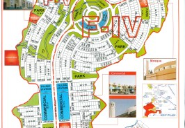 Bahria Town Phase 8 F4 F5 Map