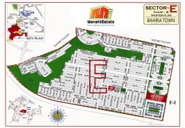 Bahria Town Phase 8 Sector E Map