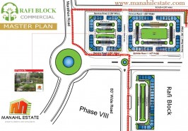 Bahria Town Rafi Commercial Map