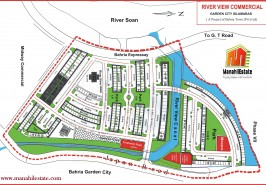River View Commercial Bahria Town Rawalpindi Map