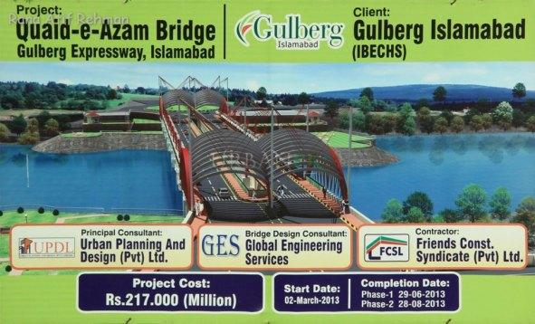 Quaid-e-Azam Bridge Gulberg Expressway