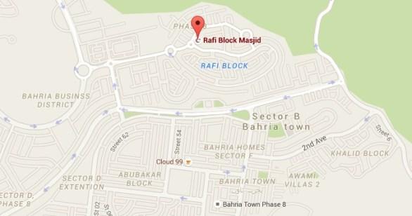Bahria Town Rafi Block Google Maps Image