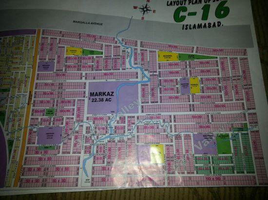 Sector C-16 Islamabad Map CDA