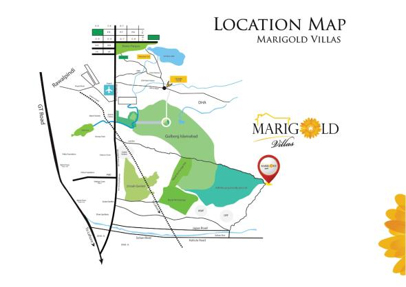 Marigold Villas Location Map