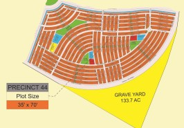 Bahria Sports City Karachi Precinct 44 Map