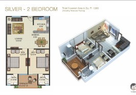 Galleria Silver 2 Bedroom Layout Plan