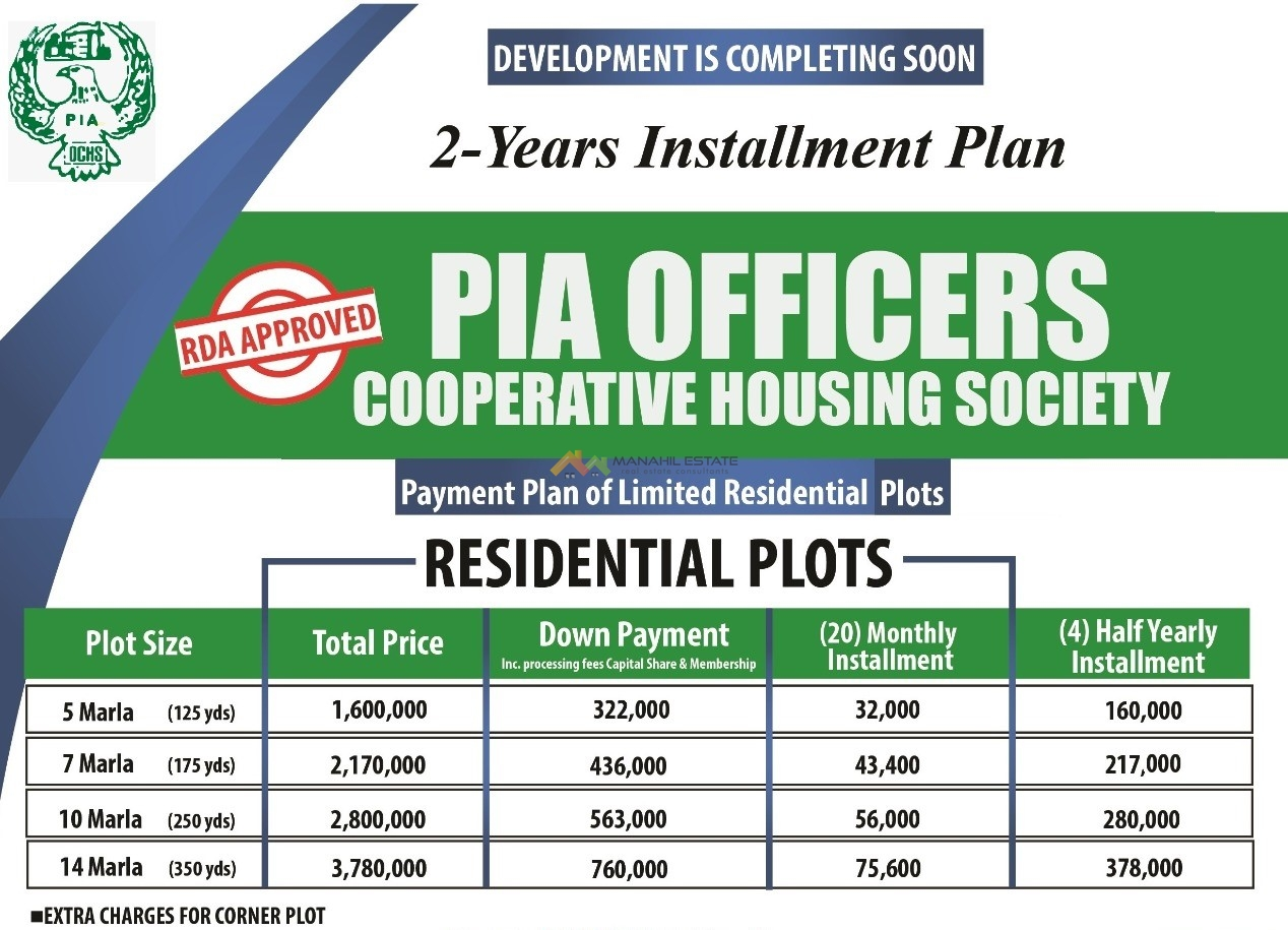 PIAOCHS Residential Payment Plan