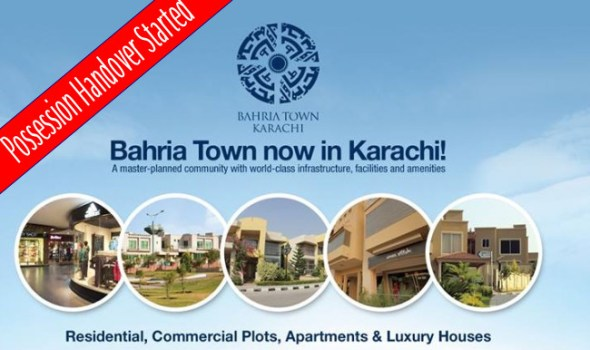 bahria town karachi possession handover started