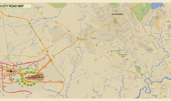 Green City Islamabad Location Map