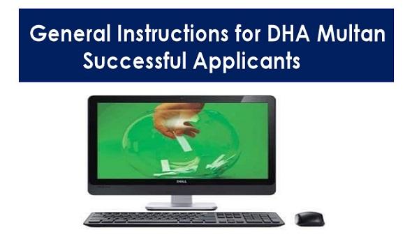General Instructions DHA Multan Balloting