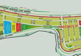 Bahria Paradise Karachi Precinct 57 Map