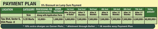 DHA Commercial Payment Plan