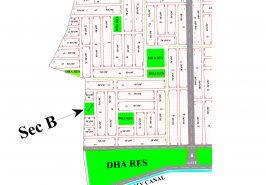 DHA Peshawar Sector B Map