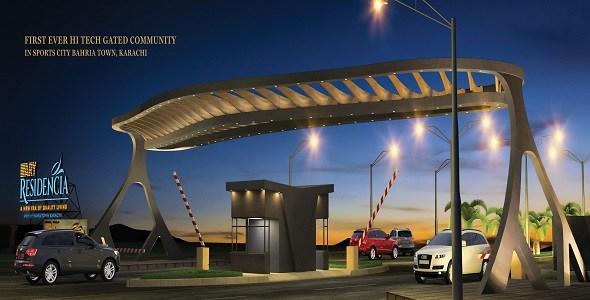 ARY-REsidencia-Karachi-Image-Entrance-Gate