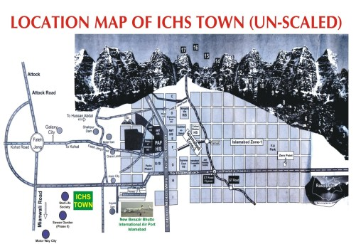 ICHS Town Location Map