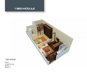 Time Square 1 Bed Apartment