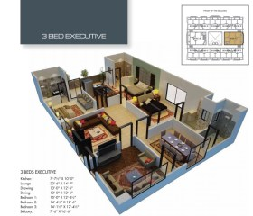 Time Square 3 Bed Executive