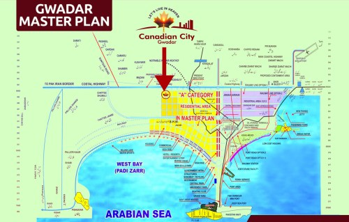 Canadian City Gwadar Location Map