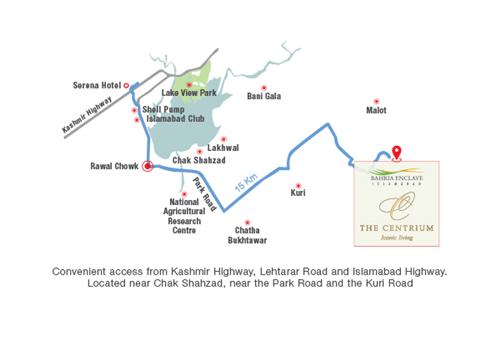 Centrium Islamabad Location Map