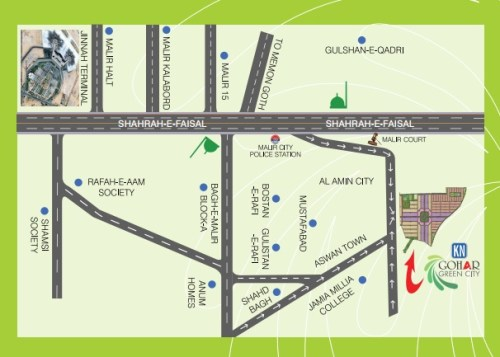 KN Gohar Green City Location Map