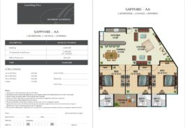Sapphire AA - 3 Bed Lounge Dining