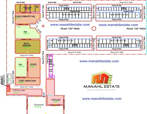 Etihad Town Lahore Commercial Plots Map