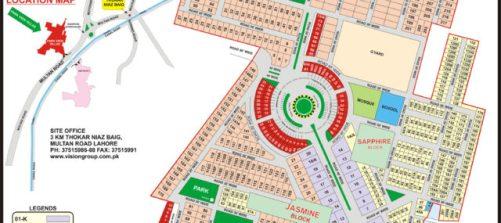 Map Park View Villas