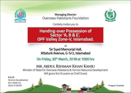 OPF Valley Possession Handover Announcement