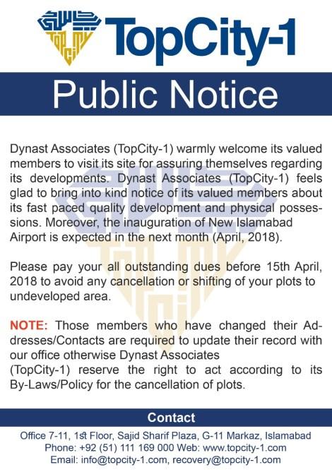 Top City-1 Notice