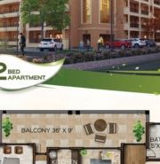 Two Bed Luxury Apartment Layout Plan