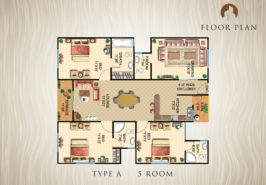 Type-A-5-Rooms-Apartment-Layout-Plan