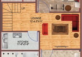 5M Floor Plan Contemporary B FF