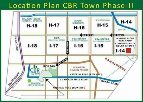 CBR Town Phase 2 Location Map