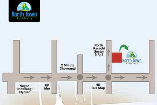North Town Residency Karachi Location Map