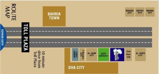 Sindh Employees Housing Scheme Location Map