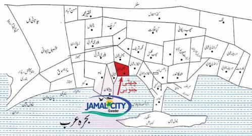 Jamal City Gwadar Location Map
