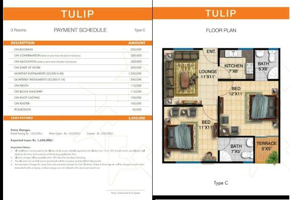Tulip-3 Rooms Apartment Type C