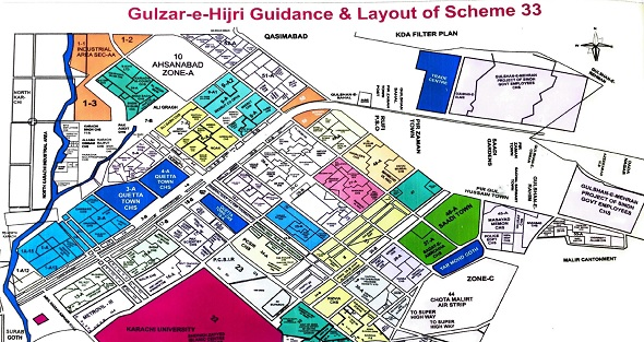Karachi Scheme 33 Map