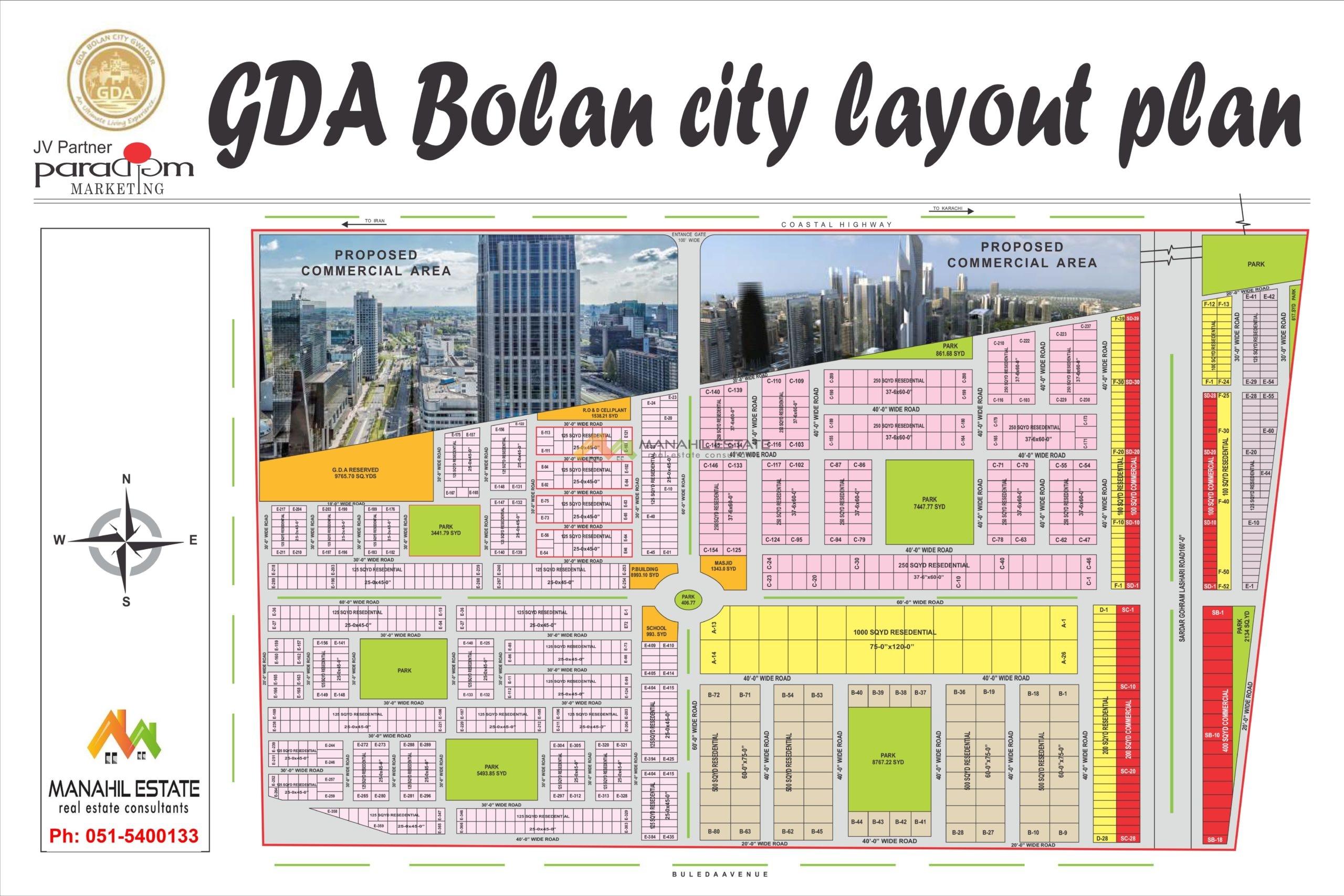 GDA Bolan City Gwadar Map
