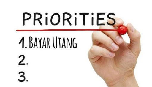 Mejadikan Pembayaran Hutang Sebagai Prioritas