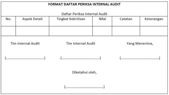 contoh audit list perusahaan