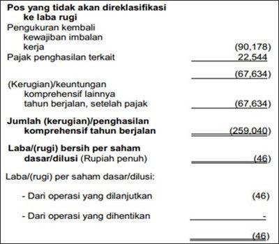 contoh laporan laba rugi perusahaan dagang lengkap