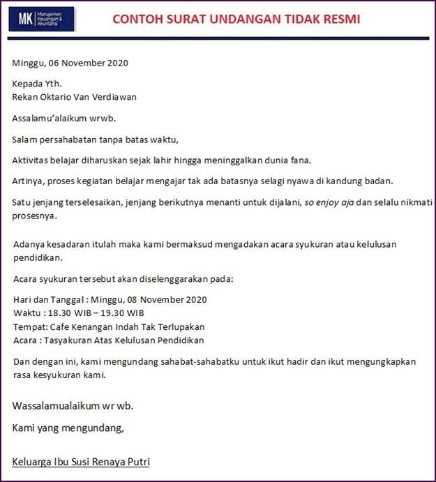 surat undangan pengajian