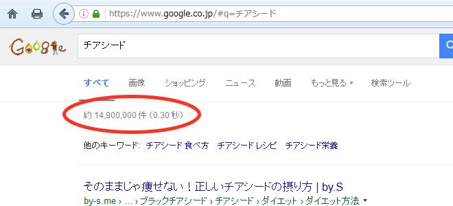 チアシードの検索結果件数