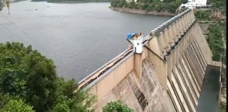 Nagarjuna Sagar Dam Water Level Reached