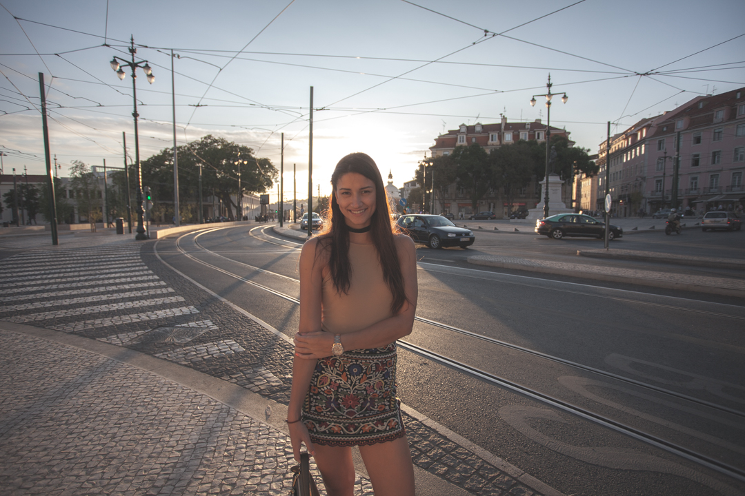 girl in streets of lisbon