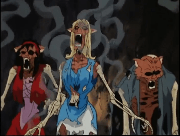 "Decaying werecats from ""Scooby-Doo on Zombie Island""."