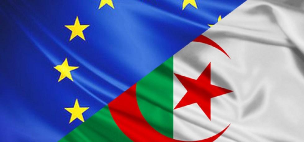 EU and Algeria flags