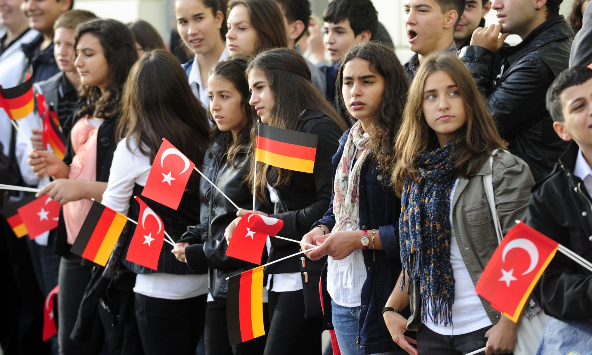 Turkish immigrants in Germany.