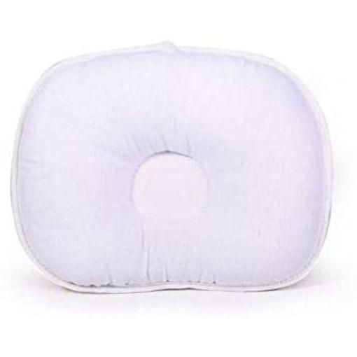 bear pattern newborn infant head support baby pillow pink